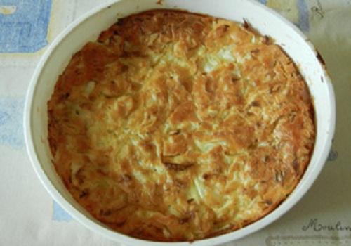 Пирог с капустой на скорую руку, Заливной пирог с капустой