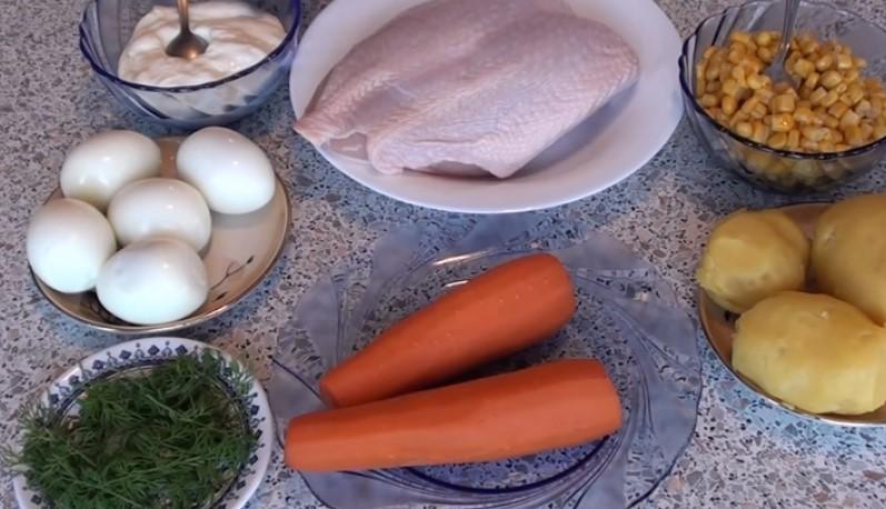 продукты для салата Пасхальное яйцо