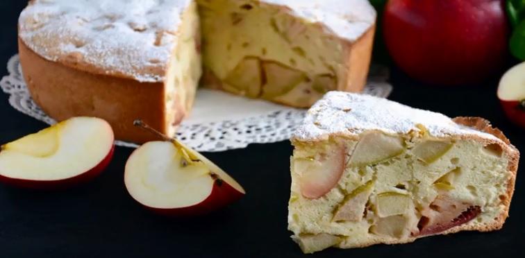 Яблочный пирог шарлотка с яблоками рецепт