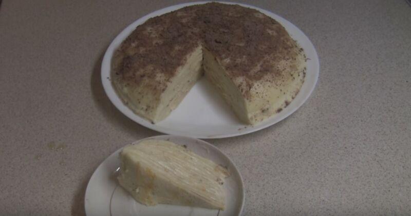 готовый торт из блинов с заварным кремом