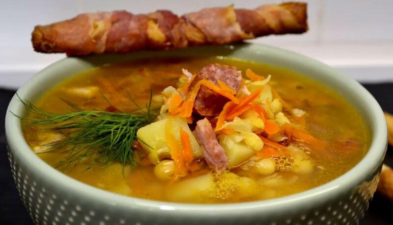 гороховый суп с копченостями - пошаговые рецепты