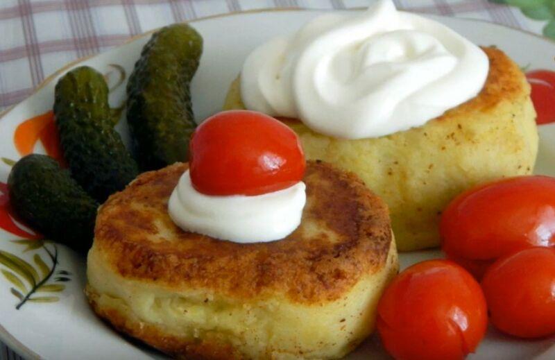 готовые картофельные зразы с печенью