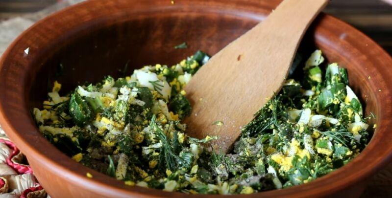 начинка для картофельных зраз из яйца и зелени