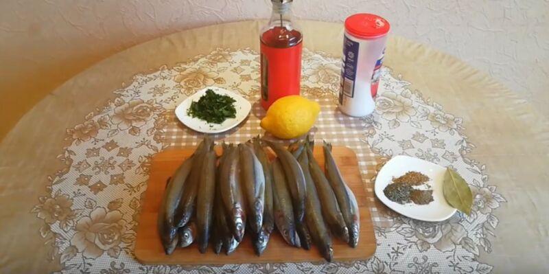 продукты для запеченной корюшки