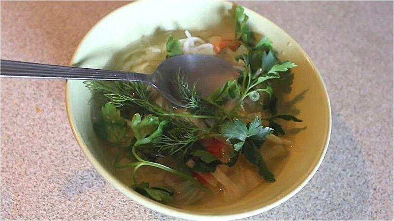 луковый суп с капустой для похудения