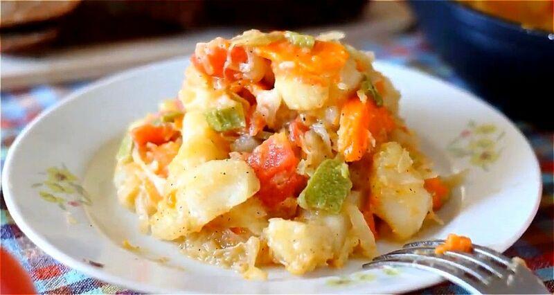 овощное рагу из кабачков, капусты и картошки