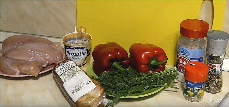 продукты для куриной грудки в беконе