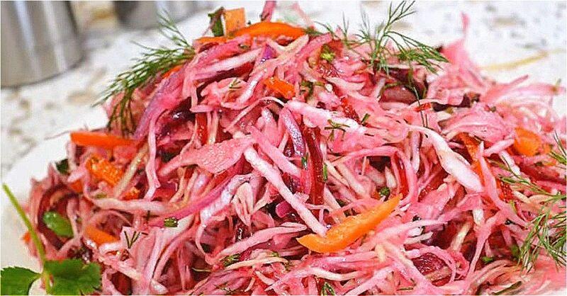 салат из свежей капусты и свеклы