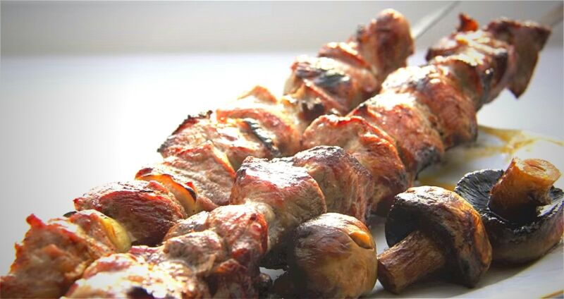 шашлык из свинины с уксусом и луком по-советски