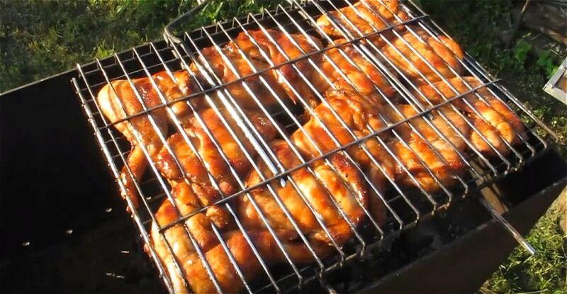 шашлык из куриных ножек в медово-соевом маринаде