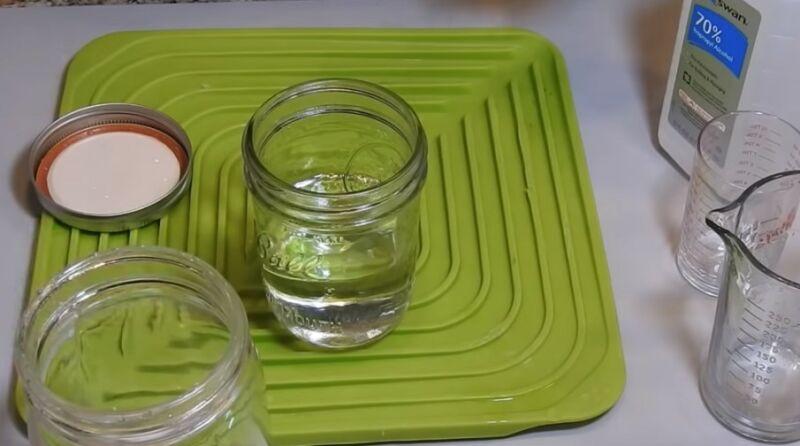 обработка банок спиртом