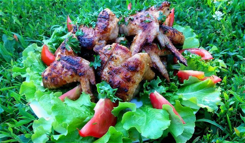 Шашлык из куриных крылышек + самый вкусный маринад, чтобы мясо было мягким