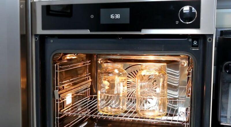 стерилизуем банки в электрической духовке