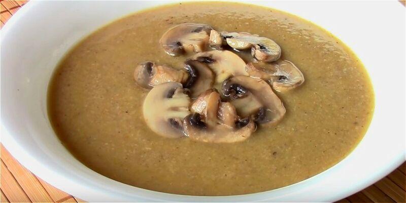 постный суп-пюре из шампиньонов