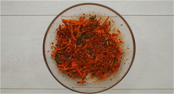 готовим начинку по-корейски для малосольных огурцов