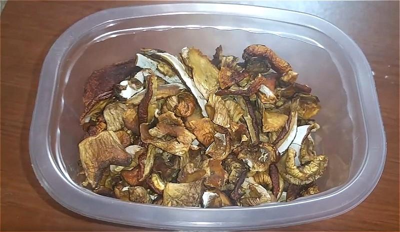грибы, сушеные в духовке