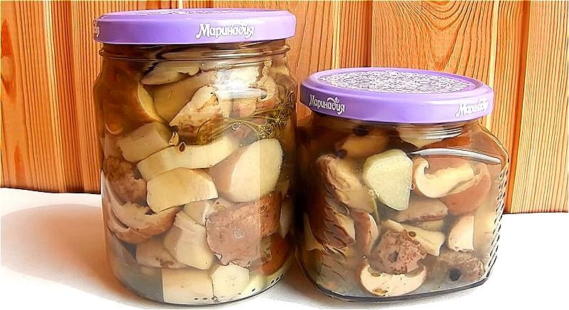 Хрустящие маринованные белые грибы на зиму