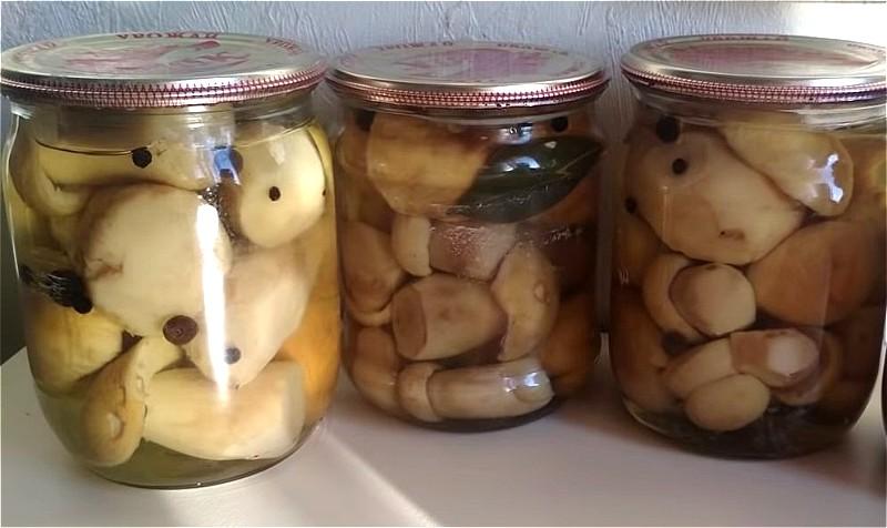 маринованные белые грибы - рецепт на 1 литр