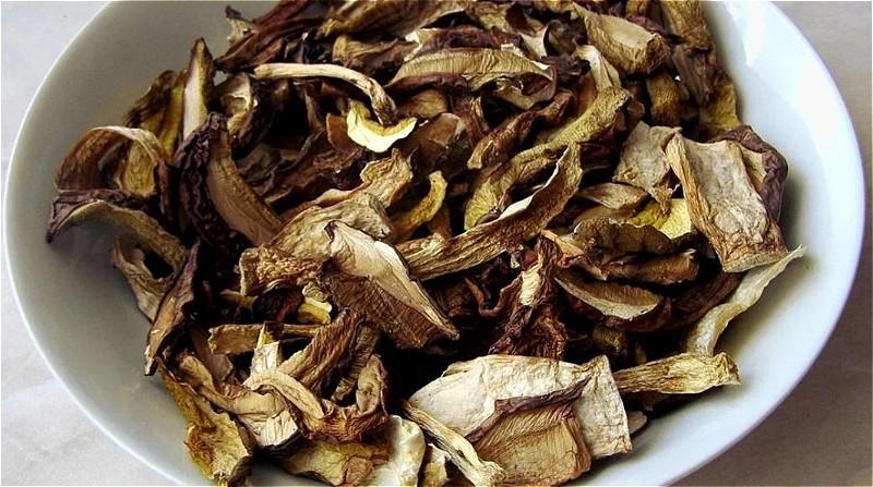 сушеные грибы в микроволновке