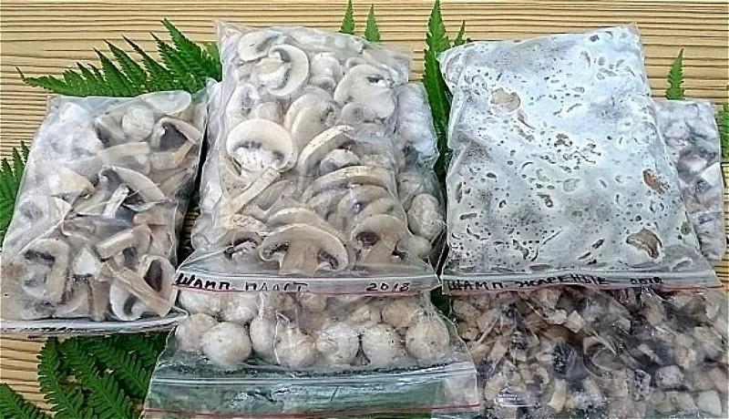 заморозка шампиньонов на зиму
