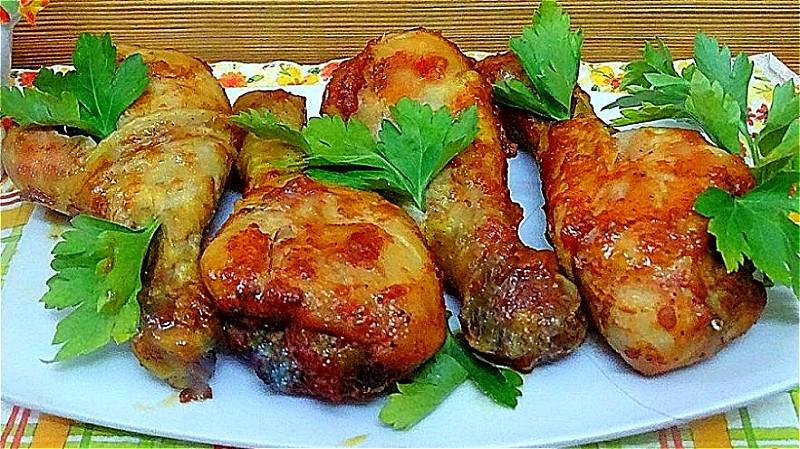 Куриные ножки в духовке с хрустящей корочкой: 7 пошаговых рецептов