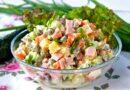 Салат Оливье с колбасой: классические пошаговые рецепты оливье
