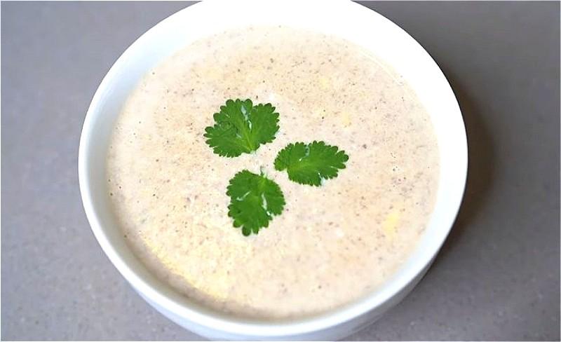 грибной суп-пюре с плавленным сыром
