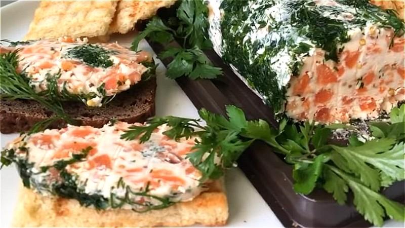 масло с красной рыбой на бутерброды