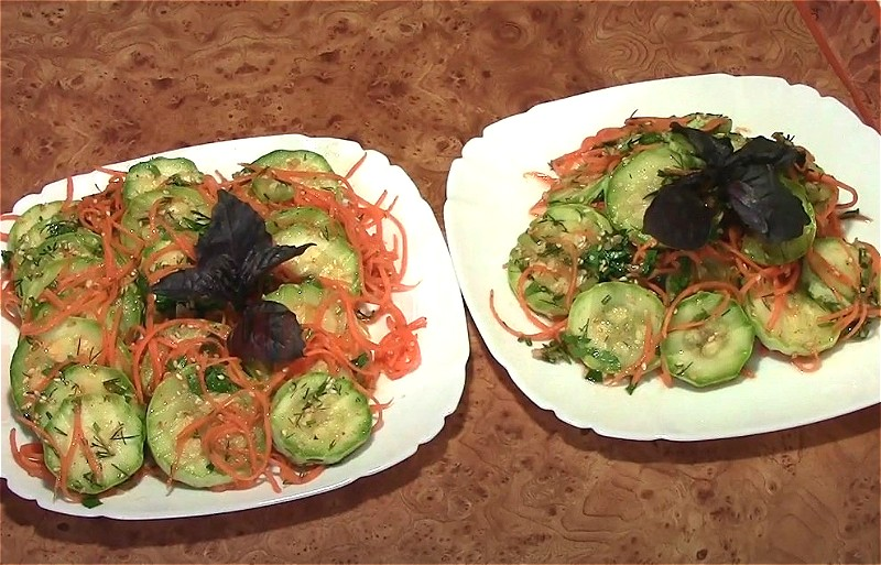 Кабачки по-корейски - самые вкусные рецепты быстрого приготовления