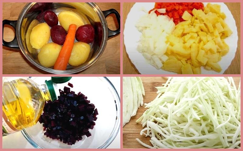 Винегрет: 8 классических пошаговых рецептов