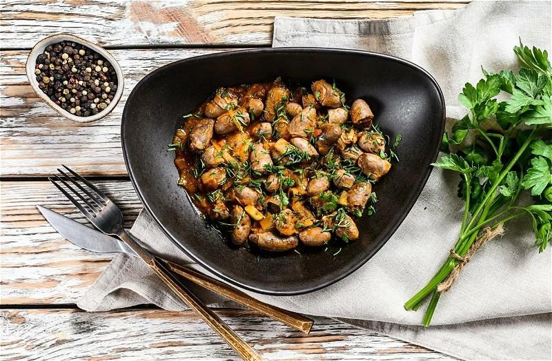 Куриные сердечки на сковороде - 8 рецептов приготовления